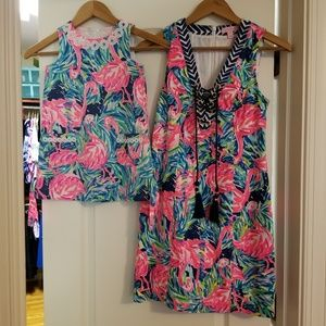 Lilly Pulitzer Dresses - Lilly Pulitzer flamingo shift dress matching mommy